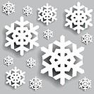 Christmas background. Snowflakes.