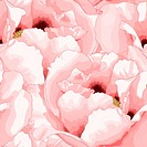 Beautiful seamless background with pink flowers.