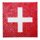 Flag of Switzerland made of plastic pearls