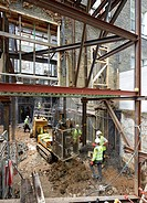 Construction site-basement excavation. Commerical stock portfolio (continued), na, United Kingdom. Architect: na, 2015.