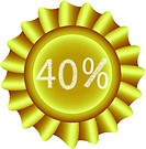 Yellow Vector Label-40%