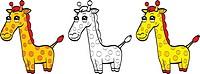 Cute cartoon giraffe