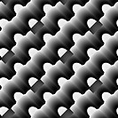 Black and white seamless ornament.