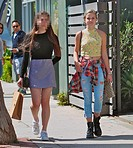Ava Phillippe shopping with a friend on Abbott Kinney Boulevard in Venice Beach Featuring: Ava Phillippe Where: Venice, California, United States When...