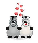 Valentine's Day. Lovers animals.