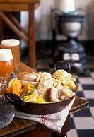 Flemish Hutsepot,recipe from L'estaminet Le Blauwershof at Godewaersvel