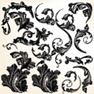 Set of vector swirl flourishes