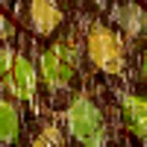 Camouflage seamless pattern with realistic leaves