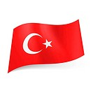 State flag of Turkey.
