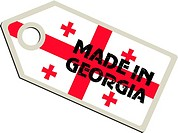vector label Made in Georgia