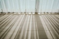 Shadow from shining through a window and the curtains
