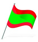 flag of Transnistria vector illustration