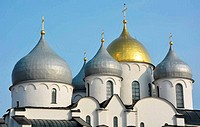 Cupola of the St. Sofia cathedral in Veliky Novgorod