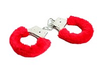 Red sexual handcuffs