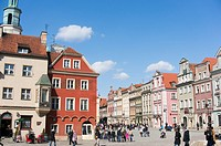 POZNAN, POLAND:People enjoying the sun at the city center.