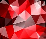 Triangle background. Red polygons.