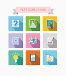 a set of flat icon designs