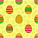Seamless pattern with Easter painte