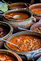 Antigua, Guatemala. Lunch Choices at Local Restaurant, La Cuevita de los Urquizu.