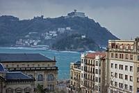 The Bahia de la Concha of San Sebastian, Donostia, , Basque Country, Spain