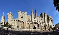 Palais des Papes, Palace of the Popes, Avignon, Vaucluse, 84, Provence-Alpes-Côte d´Azur, France, Europe.