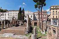 Europe, Italy, Roma, largo di torre argentina. Largo di Torre Argentina is a square in Rome, Italy, that hosts four Republican Roman temples, and the ...
