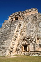 Palace of the Magician, Uxmal Mayan Archaeological Site, Yucatan, Mexico