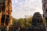 Cambodia, Angkor on World Heritage list of UNESCO, Bayon temple, built in XII-XIII century by King Jayavarman VII.