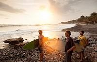 la libertad beaches surf. el salvador.