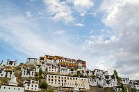 Low-angle shooting of Thicksay gompa, Ladakh, India.