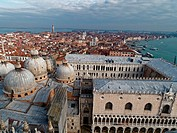 Venice - aerial view from the Campanile di San Marco, Venice, Italy