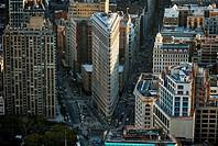 New York City, Manhattan, Skyline, Skyscrapers, Flat Iron Building