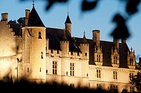 Loches castle in Loire Valley, France.