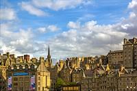 Old historical architecture in Edinburgh, Scotland, UK