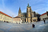 Prague, Czech Republic. St Vitus Cathedral (since 1997, the Metropolitan Cathedral of Saints Vitus, Wenceslaus and Adalbert (Czech: metropolitní kated...