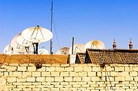 Satellite antennas - Aswan, Upper Egypt.