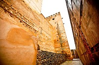 Torre del Cubo, Alhambra in Granada, Alcazaba (Granada, Spain, Andalusia, Europe).