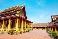 Wat Si Saket (Wat Sisaket) temple, Vientiane, Laos.
