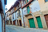 Traditional Architecture, Medieval Town, Historic Artistic Grouping, Sequeros, Salamanca, Castilla y León, Spain, Europe.