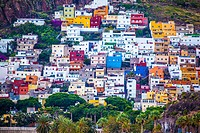 San Andrés fishermen´s village on the mountain side. Santa Cruz de Tenerife . Spain