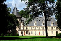 France, Castle of Beauregard in Montigny sur Aube, Burgundy where used to stay the american president harry Truman