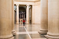Dancers in the Tate Britain museum in London, England
