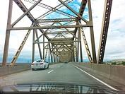 Bridge over the Columbia River, Washington and Oregon, USA.