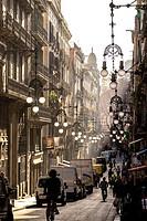 Carrer de Ferran street in Gothic Quarter in Barcelona, Catalonia, Spain.