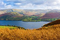 Ullswater, viewed from Gowbarrow Park in the Lake District Park, Cumbria, England.