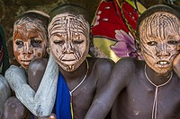 Young boys of Bume or Niyangatong Tribe