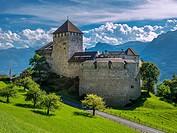 Schloss Vaduz Castle, Principality of Liechtenstein, Europe.