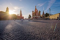 Red Square sunset (Moscow).