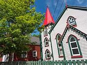 Canada, Newfoundland, Trinity, Facade of church