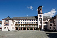 D-Worms, Rhine, Upper Rhine, Rhenish Hesse, Rhine-Neckar area, Rhine-Main district, Rhineland-Palatinate, city hall and market place.